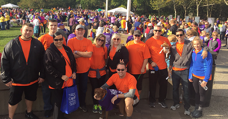 Home Helpers staff members participated in the 2016 Walk to End Alzheimer's in Cincinnati, Ohio