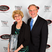 Betty Bibb, the 2015 Exceptional Caregiver of the Year, with her husband at the Home Helpers National Conference.