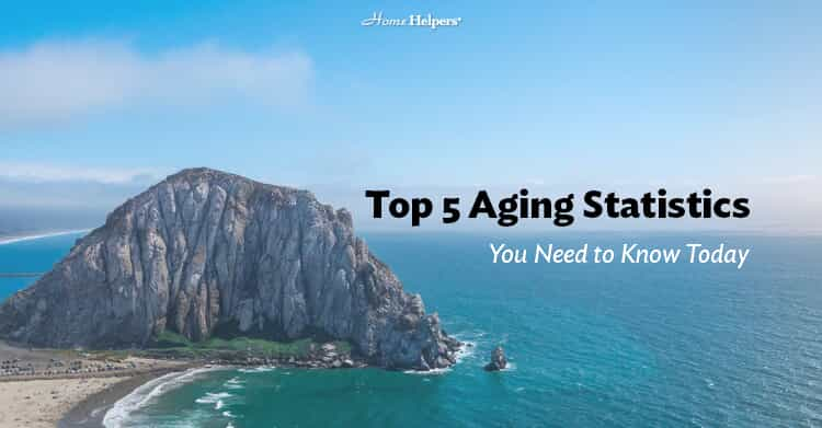 "Image of a beach and the ocean with text that says, ""Top 5 Aging Statistics You Need to Know Today"""
