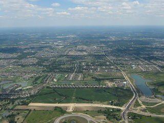 aerial view of Mason, OH