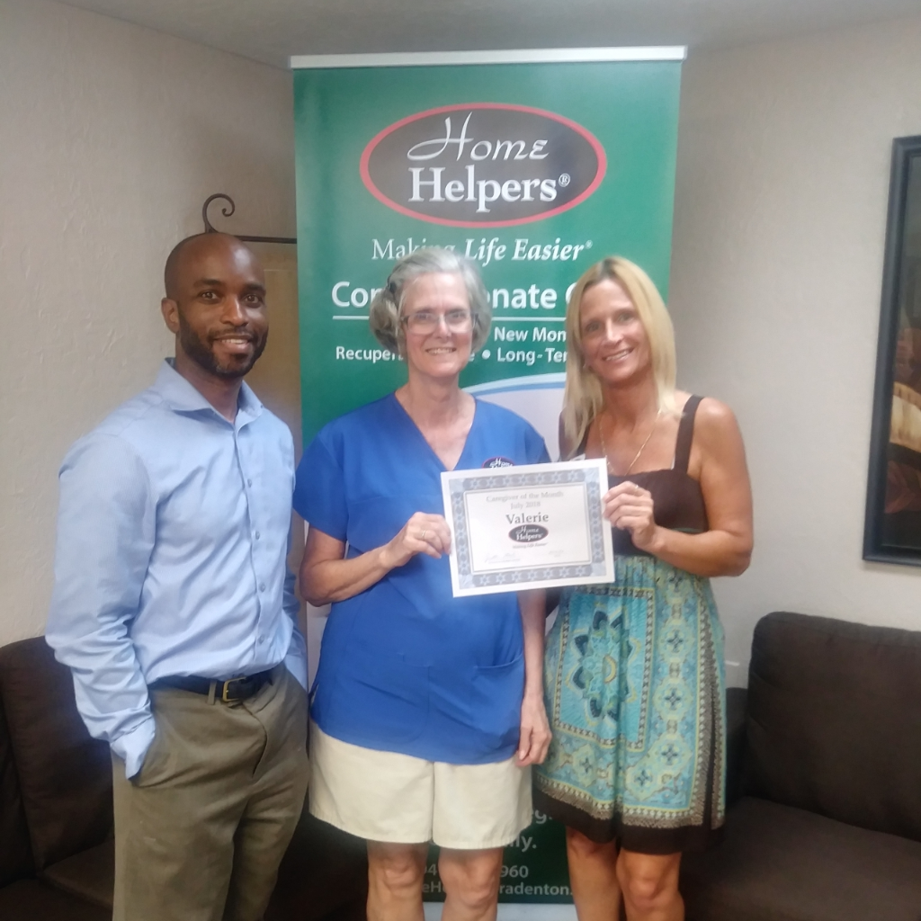 Caregiver of the Month July 2018 - Valerie - Home Helpers Bradenton FL