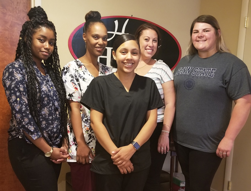 Home Helpers is thrilled to welcome five new caregivers to our growing team.  Welcome to Giselle from Bristol (front center) and from left to right – Stephanie (Philadelphia), Chennita (Ambler), Caitlin (Warminster) and Casey (Levittown).