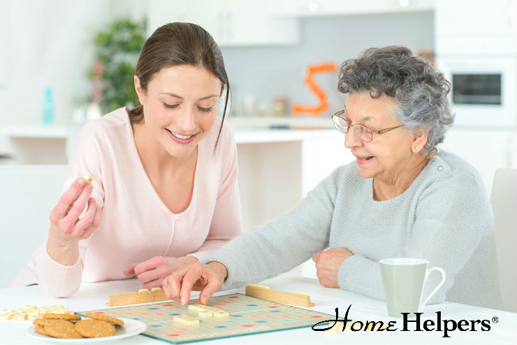Senior Playing Boardgame