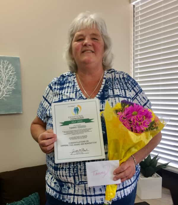 Tammy, July Caregiver of the Month